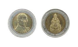 Ten Baht Thailand coins limited edition. Royalty Free Stock Image