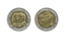 Ten Baht Thailand coins limited edition. Royalty Free Stock Photography