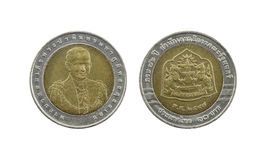 Ten Baht Thailand coins limited edition. Royalty Free Stock Images