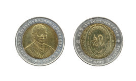 Ten Baht Thailand coins limited edition. Stock Photos