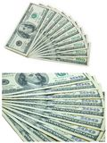 Ten banknotes of 100 dollars Stock Image