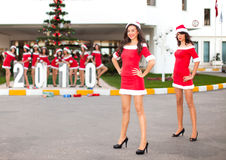 Ten beautiful Santas Royalty Free Stock Image