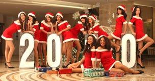 Ten beautiful Santas Stock Images