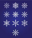 Ten beautiful snowflakes. Vector illustration. Fully editable, easy color change for Your design Royalty Free Stock Images