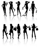 Ten beautiful woman Royalty Free Stock Photography