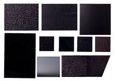 Ten Black textures Royalty Free Stock Image