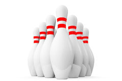 Ten Bowling pins Stock Photography