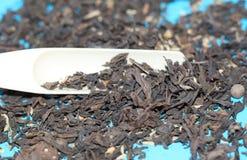 Ten Chińska herbata Rozrzucanie sucha herbata Liście suszą zdjęcia royalty free