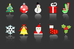 Ten christmas icon Royalty Free Stock Photography