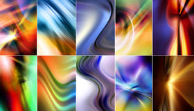 Ten Colorful Abstract Backgrounds Royalty Free Stock Images