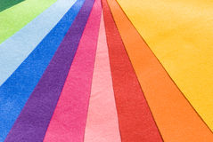 Ten colorful cloth. From green to yellow Royalty Free Stock Photos