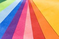 Ten colorful cloth Royalty Free Stock Photos