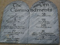 Ten Commandment Stock Photography