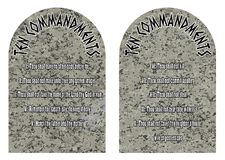 The Ten Commandment Stones On A White Background. The two stones containing the ten commandments Stock Photography