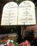 The Ten Commandments. Ten Commandments Monument Royalty Free Stock Photo