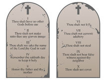 Ten Commandments Stock Image