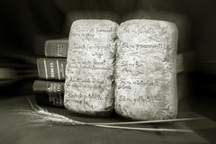 Ten Commandments stock image
