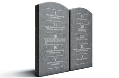 Ten Commandments Stock Photo