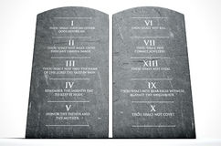 Ten Commandments Stock Photography
