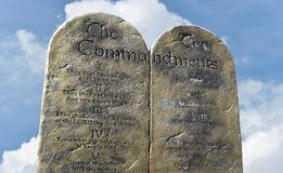 Ten Commandments from the God of Moses and Abraham