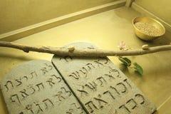 Ten Commandments inside Ark Model in Israel Royalty Free Stock Photography