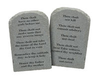 Ten Commandments Royalty Free Stock Photo
