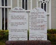 Ten Commandments. Of Mount carmel cathedral at Saipan Royalty Free Stock Photography