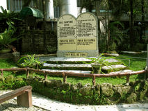 The Ten Commandments, National Shrine of Divine Mercy in Marilao, Bulacan Stock Images