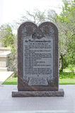 Ten Commandments on Oklahoma State Grounds Stock Image