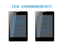 Ten Commandments Phablets Stock Image