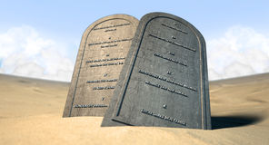 Ten Commandments Standing In The Desert Royalty Free Stock Photos