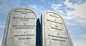 Ten Commandments Standing In The Desert Royalty Free Stock Photography
