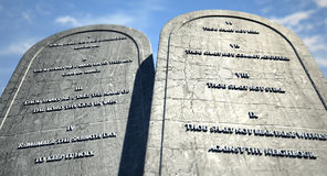 Ten Commandments Standing In The Desert Royalty Free Stock Image