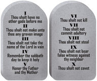 Free Ten Commandments Tablets Royalty Free Stock Image - 5548826