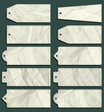 Ten crumple  labels, vector Royalty Free Stock Image