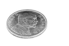 Ten Czechoslovak crowns. Stock Photo