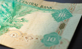 Ten dirhams of the United Arab Emirates Stock Photography