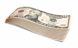 Ten dollar banknotes Stock Photos