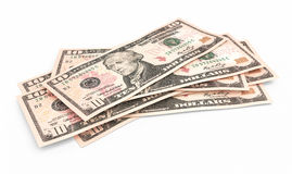 Ten dollar banknotes Royalty Free Stock Photos