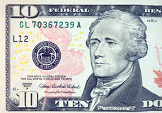 Ten dollar bill Royalty Free Stock Images