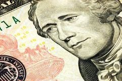 Ten dollar bill Royalty Free Stock Photography