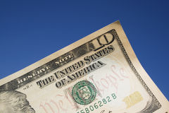 A ten dollar bill Stock Image