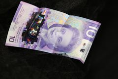 Ten dollar bill- new Canadian currency for 2019 royalty free stock photo