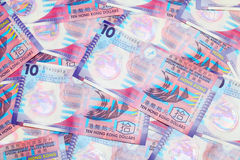 Ten dollar Hong Kong banknote Royalty Free Stock Photo