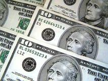 Ten dollars. Ten American dollars stock images