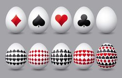 Ten easter eggs, vector Stock Photos