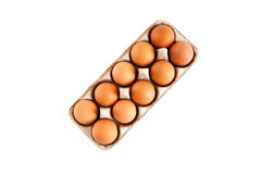 Ten Eggs Stock Photos