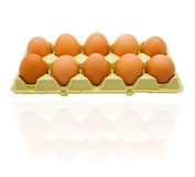 Ten eggs Royalty Free Stock Images