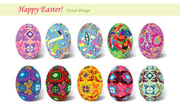 Ten eggs for easter Royalty Free Stock Photography