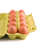 Ten eggs in package Stock Image